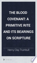 The Blood Covenant Book PDF