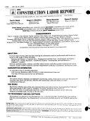 Construction Labor Report