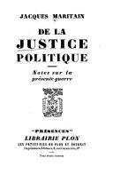 De la Justice Politique