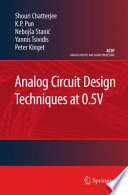 Analog Circuit Design Techniques At 0 5v Book PDF