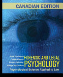 Forensic and Legal Psychology  Canadian Edition  Book PDF
