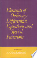 Elements Of Ordinary Differential Equations And Special Functions Book
