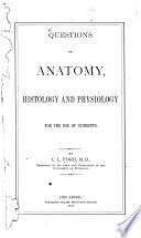 Questions On Anatomy For The Use Of Students Book PDF