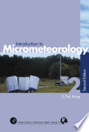 Introduction to Micrometeorology Book