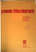 Economic Titles Abstracts