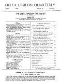 The Delta Upsilon Quarterly