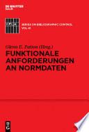 Funktionale Anforderungen an Normdaten