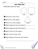 Geometry Identifying Shapes Practice