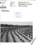 Soil Survey of Middlesex County  New Jersey