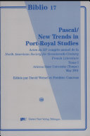 Pascal, new trends in Port-Royal studies