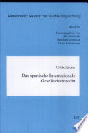 Das spanische internationale Gesellschaftsrecht