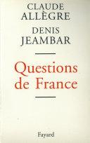 Pdf Questions de France Telecharger