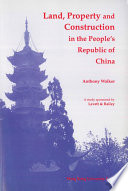 Land Property Construction In The People S Republic Of China Book PDF