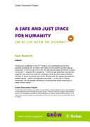 Pdf A Safe and Just Space for Humanity: Can we live within the doughnut?