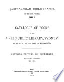 Australasian Bibliography  in Three Parts