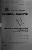 The New South Wales Industrial Gazette Book PDF