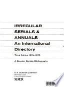 Irregular serials & annuals
