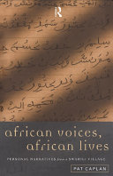 African Voices, African Lives ebook