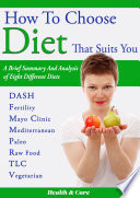 How to Choose Diet That Suits You