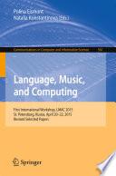Language  Music  and Computing