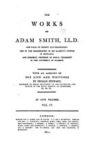 The Works of Adam Smith  The nature and causes of the wealth of nations