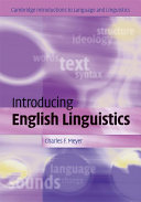 Introducing English Linguistics