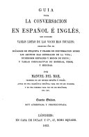 A guide to Spanish and English conversation