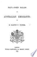 Half a Dozen Ballads for Australian Emigrants