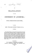 A Translation of the Confession of Augsburg Book