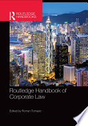 Routledge Handbook Of Corporate Law