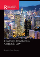 Pdf Routledge Handbook of Corporate Law Telecharger