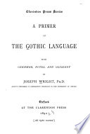 A Primer of the Gothic Language
