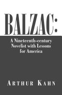 Pdf Balzac: a Nineteenth-Century Novelist with Lessons for America Telecharger