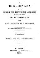 A Dictionary of the English and Portuguese Languages