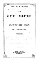 George W  Hawes  Ohio State Gazetteer and Business Directory for