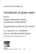 Handbook Of Glass Data Silica Glass And Binary Silicate Glasses Book PDF