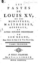 Les fastes de Louis XV