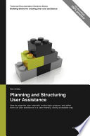 Planning and Structuring User Assistance