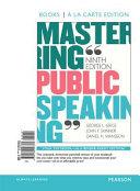 Mastering Public Speaking, Books a la Carte Edition