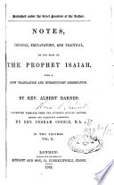 Notes Critical  Explanatory and Practical on the Book of the Prophet Isaiah Book