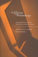 Effective Philanthropy: Organizational Success Through Deep ...
