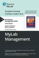 Developing Management Skills Mylab Management Combo Access Card