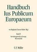 Handbuch Ius publicum Europaeum: Verwaltungsrecht in Europa. - ...