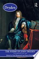 The Poems of John Dryden: 1693-1696