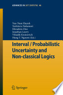 Interval   Probabilistic Uncertainty and Non classical Logics Book