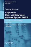 Transactions on Large Scale Data  and Knowledge Centered Systems XXXVIII