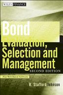 Pdf Bond Evaluation, Selection, and Management Telecharger