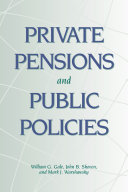 Private Pensions and Public Policies Pdf/ePub eBook