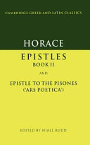 Horace: Epistles Book II and Ars Poetica
