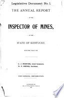 Report   Kentucky Department of Mines and Minerals Book